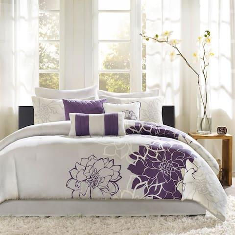 Madison Park Bridgette Floral-pattern Cotton Comforter Set