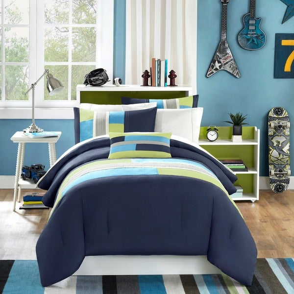 Mi Zone Switch Casual Stripe 4-piece Comforter Set