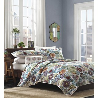 The Curated Nomad Stanyan Multi Paisley Quilted Coverlet Set (3 options available)