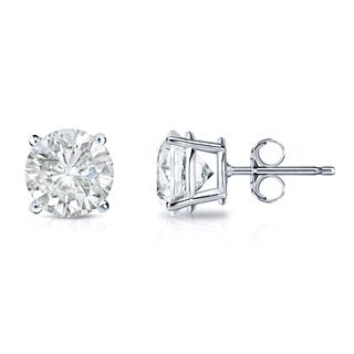 14k Gold 2/5ct Clarity-Enhanced Diamond Solitaire Earrings