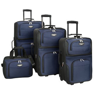 Shop travel select by traveler 39 s choice amsterdam 4 piece luggage set free shipping today for Travel gear brand