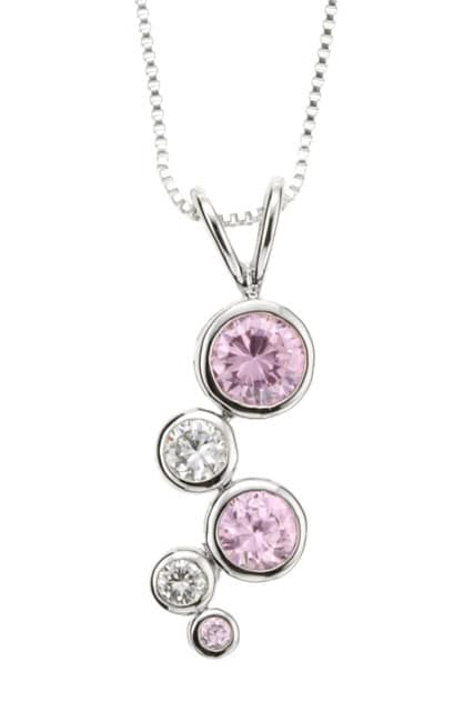 Icz Stonez Sterling Silver CZ Earring and Pendant Set