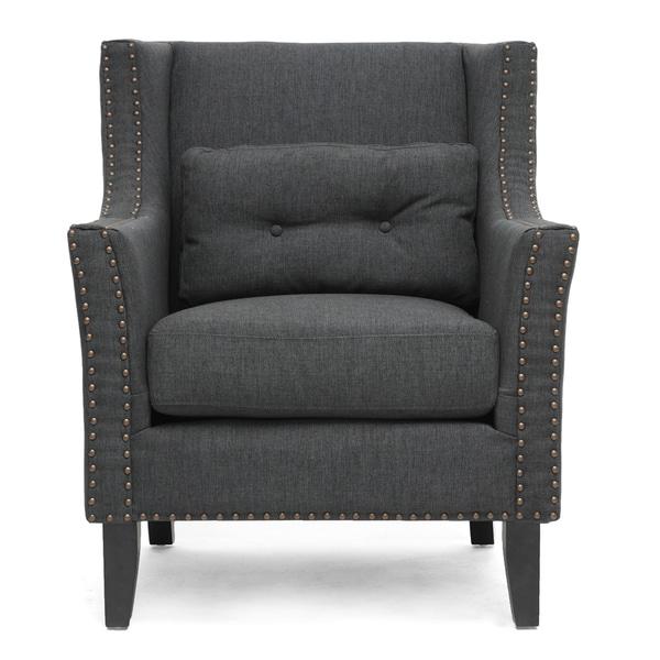 Albany Dark Gray Linen Modern Lounge Chair