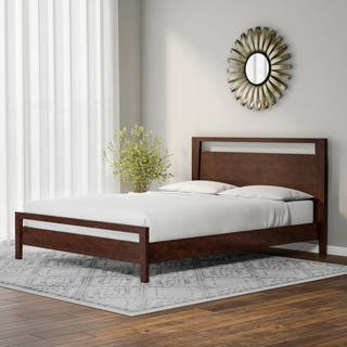 kota queen platform bed - Wood Platform Bed Frame Queen
