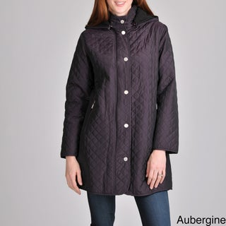 Women's Geneva Quilted Jacket with Removable Hood