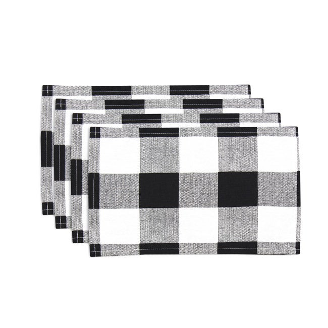 Anderson Black/ White Lined Placemat (Set of 4)
