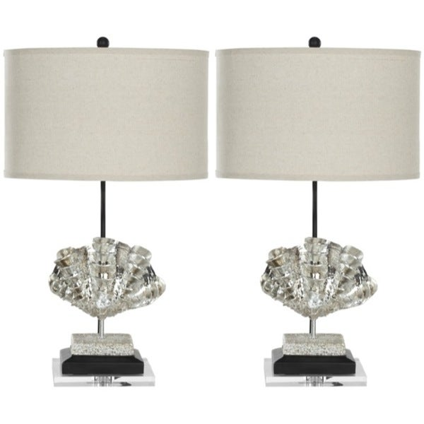 Safavieh Lighting 27.5-inch Silver Sea Shell Table Lamps (Set of 2)