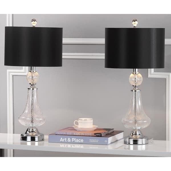 Shop Safavieh Lighting 26 Inch Mercury Crackled Glass Table Lamp