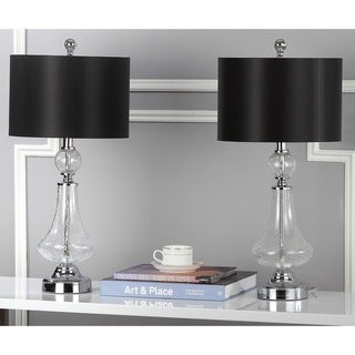 "Safavieh Lighting 26-inch Mercury Crackled Glass Table Lamp (Set of 2) - 12""x12""x25.5"""