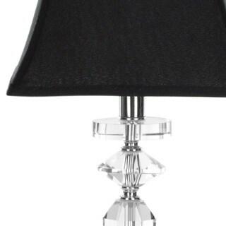 Safavieh Lighting 25-inch Black Tie Crystal Table Lamps (Set of 2)