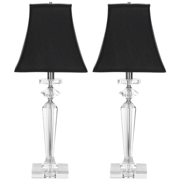 Safavieh Lighting 25-inch Black Tie Crystal Table Lamps (Set of 2)