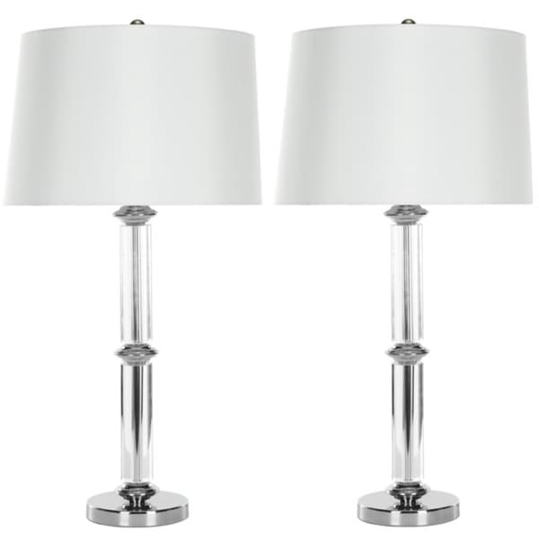 Safavieh Lighting 29.5-inch Cylinder Glass Table Lamps (Set of 2)