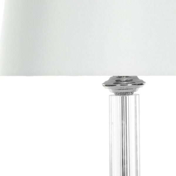 Safavieh Lighting 29.5-inch Cylinder Glass Table Lamp (Set of 2)