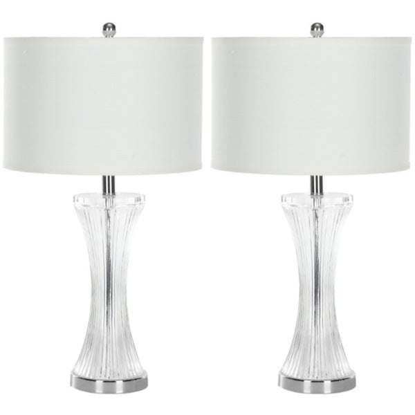 Safavieh Lighting 25-inch Curved Glass Table Lamps (Set of 2)