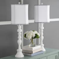 Safavieh Lighting 36-inch Candlestick White Table Lamp (Set of 2)