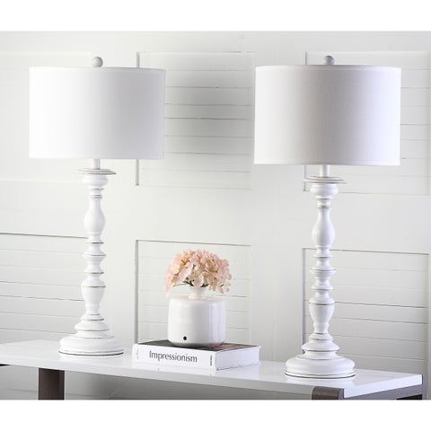 Safavieh Lighting 32.5-inch French Candlestick White Table Lamp (Set of 2)