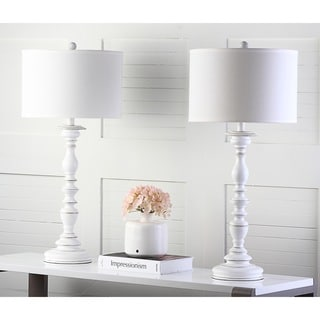 Safavieh Lighting 32.5-inch French Candlestick White Table Lamps (Set of 2)