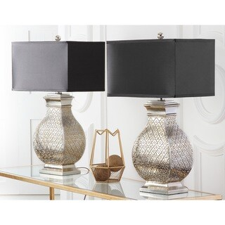 Safavieh Lighting 30-inch Royal Spain Silver Finish Table Lamp (Set of 2)
