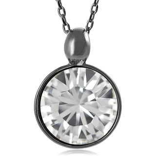 Journee Collection Rhodium-plated Base Crystal Necklace