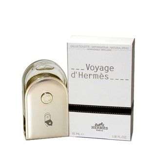 Voyage D'hermes Men's 1.18-ounce Eau de Toilette Spray Refillable