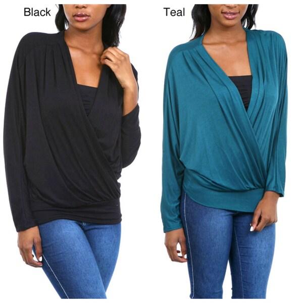 Stanzino Women's Overlap Long Sleeve Top
