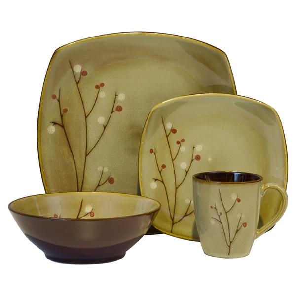 Sango Blossom Brown 16-piece Set