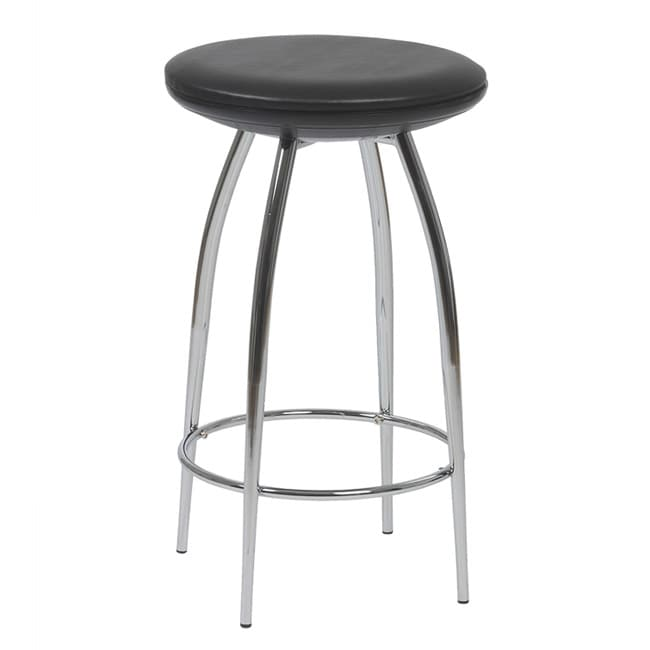 Euro Style Bernie Black Bar Stool (Set of 2)