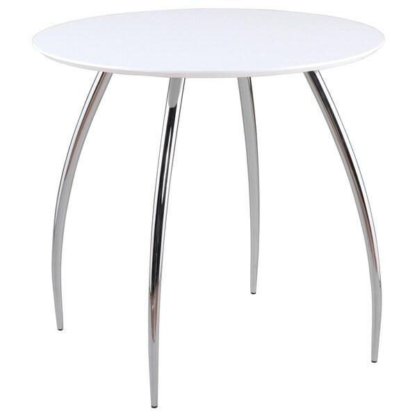 Euro Style 30 Inch White Round Bistro Table