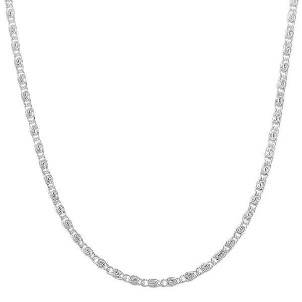 Fremada Sterling Silver 1.8mm Tiger Eye Link Chain (18-36 inch)