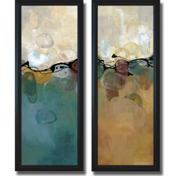 Laurie Maitland 'Retro Jewels' Framed 2-Piece Canvas Art Set