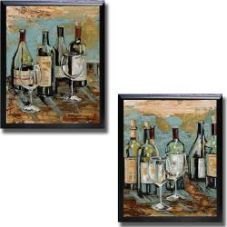 Heather French-Roussia 'Wine I and II' Framed Canvas Art - Thumbnail 0