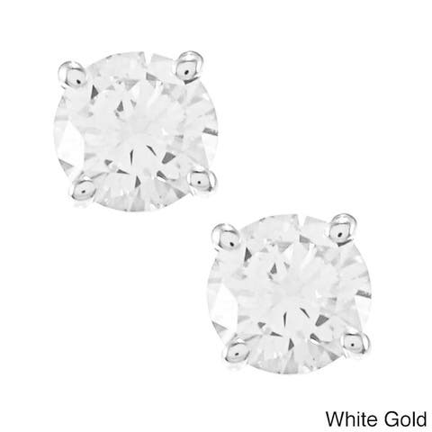 Auriya 1/2ctw Clarity Enhanced Diamond Stud Earrings 14k Gold