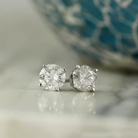 Auriya 1/2ctw Clarity-enhanced Diamond Stud Earrings 14k Gold