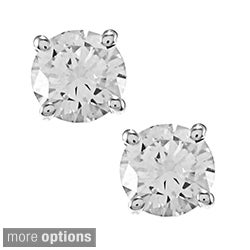 Auriya 14k Gold 1/2ct TDW Clarity-enhanced Diamond Stud Solitaire Earrings