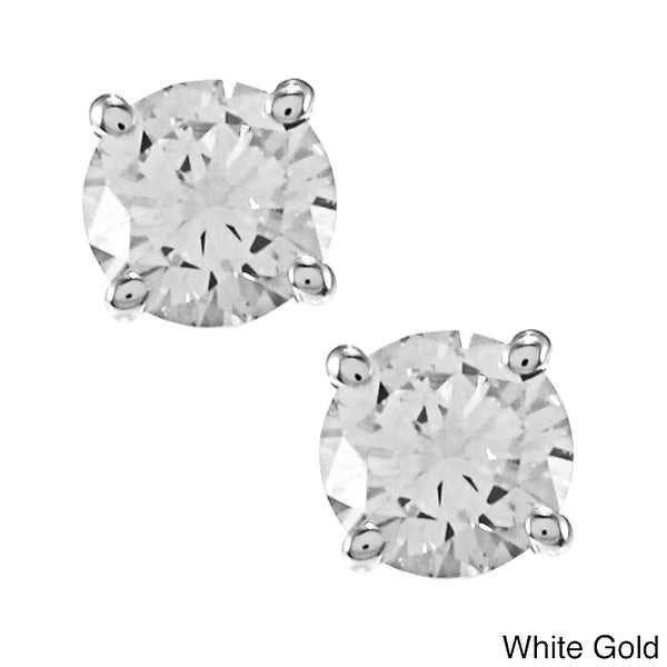 Auriya 14k Gold Clarity Enhanced 1/2ct TDW Diamond Earrings (J-K, SI1-SI2)