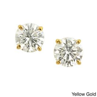 Auriya 14k Gold Clarity Enhanced 1/2ct TDW Diamond Earrings (J-K, SI1-SI2)