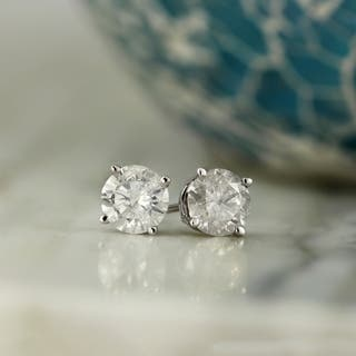 Auriya 14k Gold 1/2ct TDW Clarity-Enhanced Round Diamond Solitaire Stud Earrings|https://ak1.ostkcdn.com/images/products/7123542/P14618546.jpg?impolicy=medium