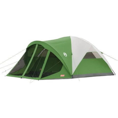 Coleman Evanston Eight-person Screened Green/White Tent (12' x 15')