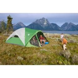 Coleman Evanston Eight-person Screened Green/White Tent (12' x 15') - Thumbnail 2