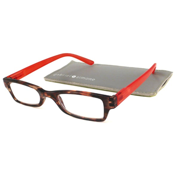 Gabriel+Simone Readers Men's/ Unisex Saint Germain Tortoise/ Red Reading Glasses
