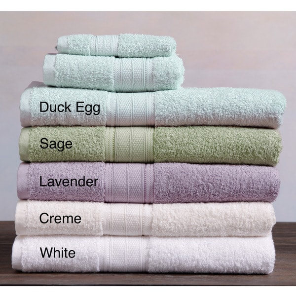 Laura Ashley Cotton Solid 3-piece Towel Set