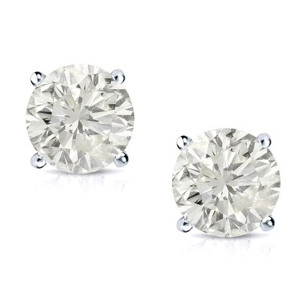 Auriya 14k Gold 3/4ct TDW Clarity-enhanced Diamond Stud Earrings (J-K, SI1-SI2)
