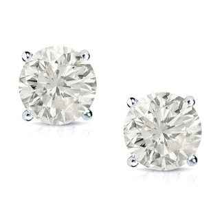 Auriya 14k Gold 3 4ct TDW Round Clarity Enhanced Diamond Stud Earrings