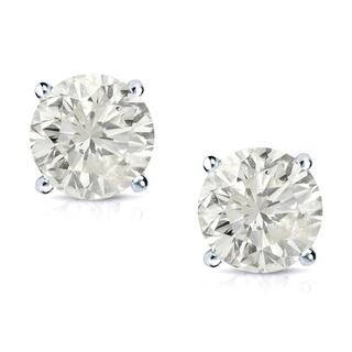 Auriya 14k Gold 3/4ct TDW Clarity-Enhanced Diamond Solitaire Stud Earrings|https://ak1.ostkcdn.com/images/products/7123597/P14618593.jpg?impolicy=medium