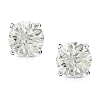 Auriya 14k Gold 3 4ct Tdw Round Clarity Enhanced Diamond Stud Earrings