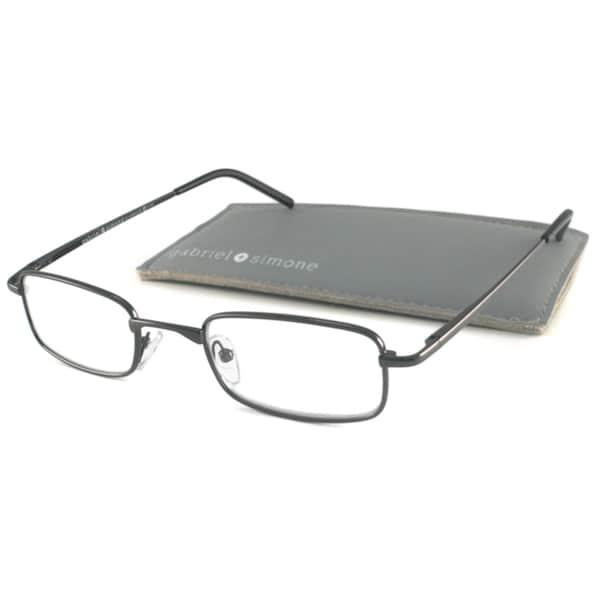 Extra Large Frame Reading Glasses : Gabriel+Simone Readers Mens Classique Gunmetal ...