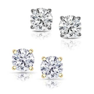 14k Gold 1 1/4ct TDW Clarity-enhanced Diamond Stud Earrings (Color and Clarity vary)|https://ak1.ostkcdn.com/images/products/7123644/P14618620.jpg?impolicy=medium