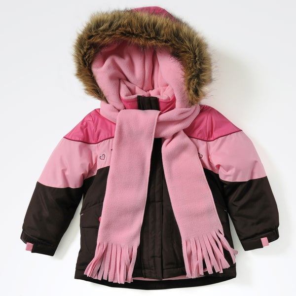 Rothschild Toddler Girls' Embroidered Faux Fur Jacket