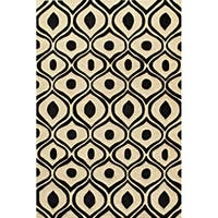 Momeni Bliss Black Waves Hand-Tufted Rug (8' X 10') - 8' x 10'