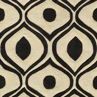 Momeni Bliss Black Waves Hand-Tufted Rug - 8' x 10'
